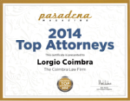 Top Attorneys 2014 Pasadena Magazine